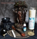 Hexenshop Dark Phönix Magic of Brighid Ritual Glaskerzen Set Meditation
